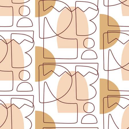 Abstract Geometric modern seamless pattern Illusztráció