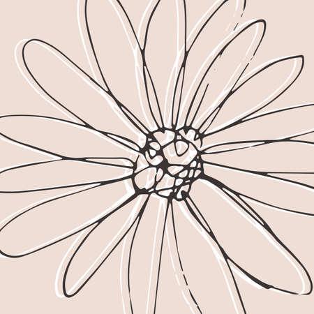 Minimalism card floral art design. Delicate vintage poster Illusztráció