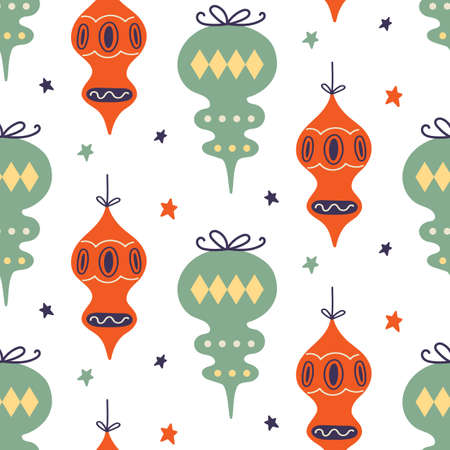 Christmas decoration seamless pattern 版權商用圖片 - 158021077