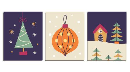 Christmas decorative cards set