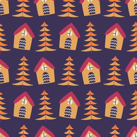 Christmas winter decoration seamless pattern
