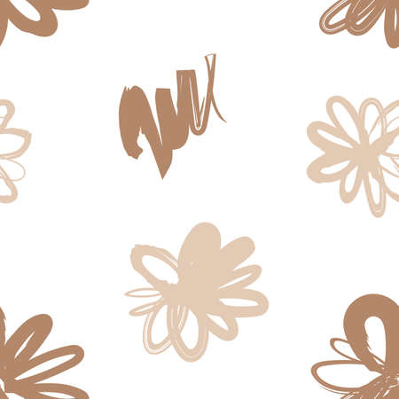 Floral seamless pattern with blossom flowers, endless texture