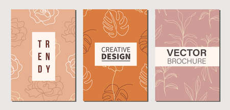 Modern stylish floral poster templates