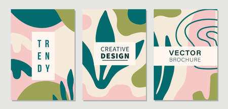 Modern Abstractions covers templates set 向量圖像