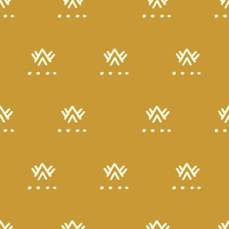 Ethnic gold seamless pattern Ilustrace