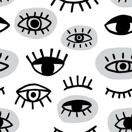 Eye seamless pattern