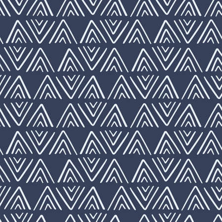 Ethnic geometric seamless pattern, African tribal endless ornament background