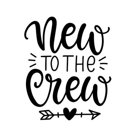 New to the Crew cute baby shower design