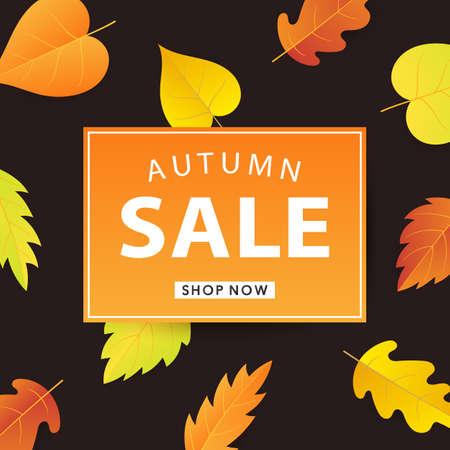Autumn sale web banner template