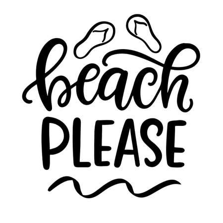 Beach please hand written lettering template