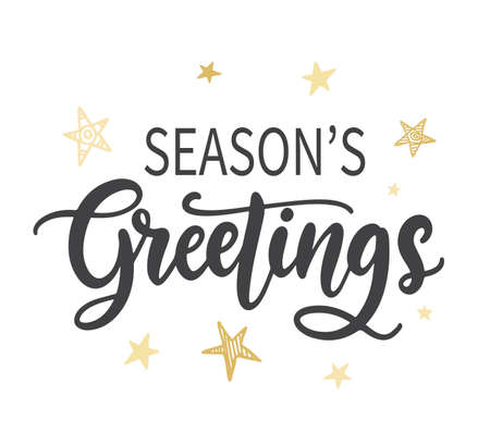 Seasons Greetings phrase quote 向量圖像