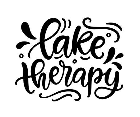 Lake therapy hand written lettering template