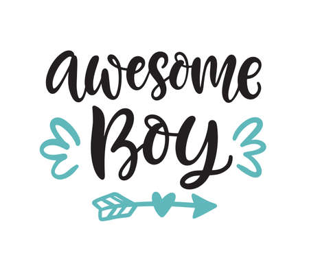 Awesome Boy hand lettering