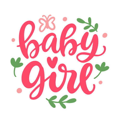 Baby Girl hand lettering