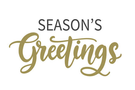 Seasons Greetings lettering text banner