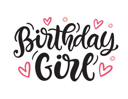 Birthday Girl cute quote print