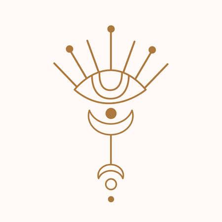 Sacred geometry eye logo 向量圖像