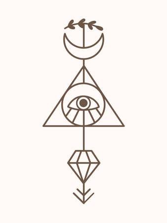Sacred geometry Mystic Tattoo Vector Art
