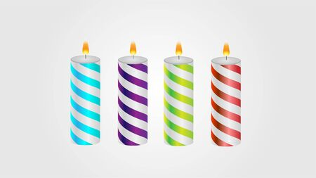 Holiday Christmas birthday candles vector.