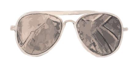 sole occhiali: Occhiali da sole illustrazione vettoriale Vettoriali