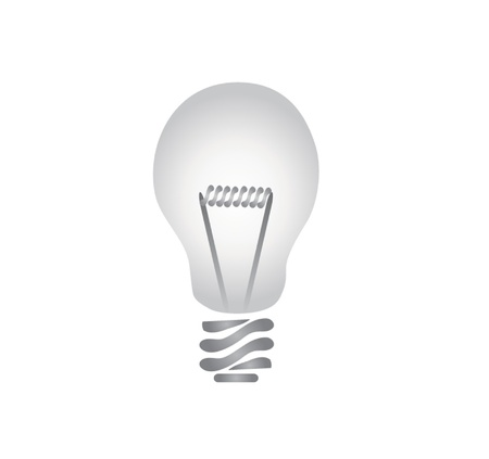 Ligh bulb drawn using Adobe illustrator and a tablet Vector