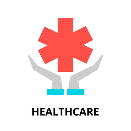 Modern flat editable line design vector illustration, concept of healthcare icon, for graphic and web design