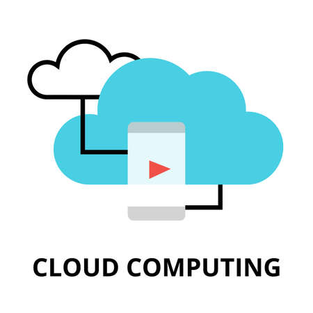 Modern Flat Design Vector Illustration Cloud Computing Icon For Graphic And Web