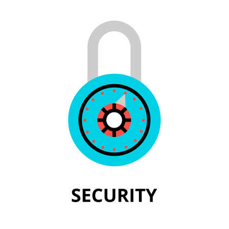scanned: Modern flat design vector illustration, security icon, for graphic and web design Illustration