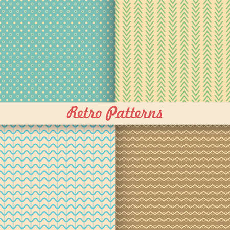 Set of retro patterns, vector illustration, for web and graphic design