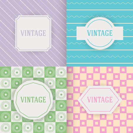 Set of vintage patterns, illustration, for web and graphic design Illustration