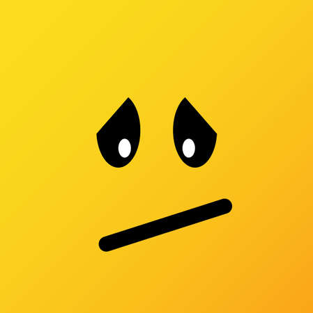 Yellow emoticons and emojis. Vector illustration in flat style close-up