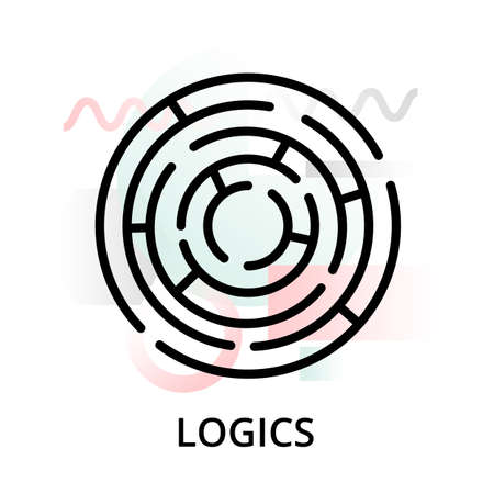 Logics concept icon on abstract background from science icons set, for graphic and web design, modern editable line vector illustration