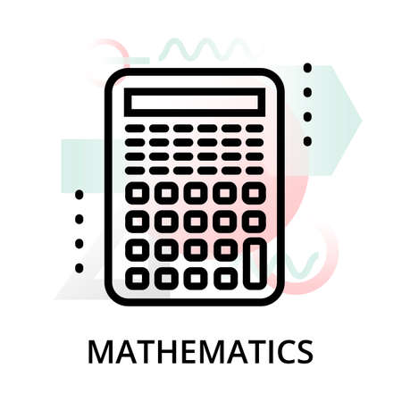 Mathematics concept icon on abstract background from science icons set, for graphic and web design, modern editable line vector illustration Illustration