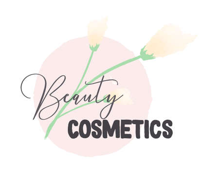 Beauty Cosmetics sticker, vector illustration for graphic and design