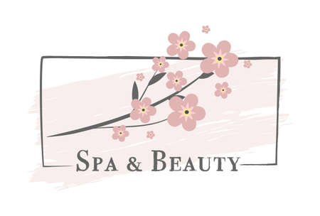 Spa & Beauty sticker, vector illustration for graphic and design