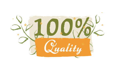 100% Quality sticker, vector illustration for graphic and design