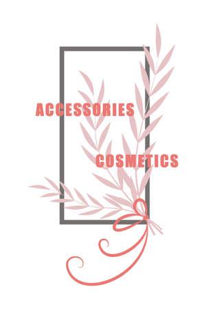 Accessories Cosmetics sticker, vector illustration for graphic and design