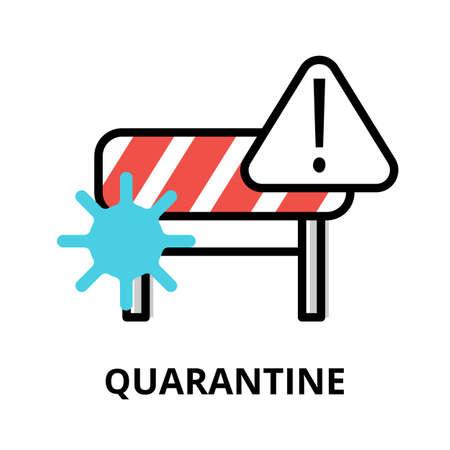 Concept of Quarantine icon, modern flat editable line design vector illustration, for graphic and web design