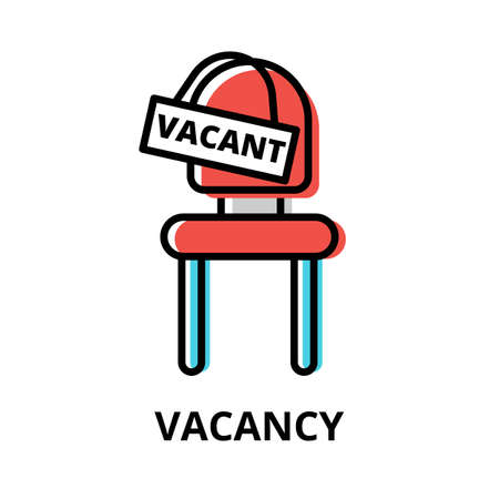 Concept of Vacancy icon, modern flat thin line design vector illustration, for graphic and web design
