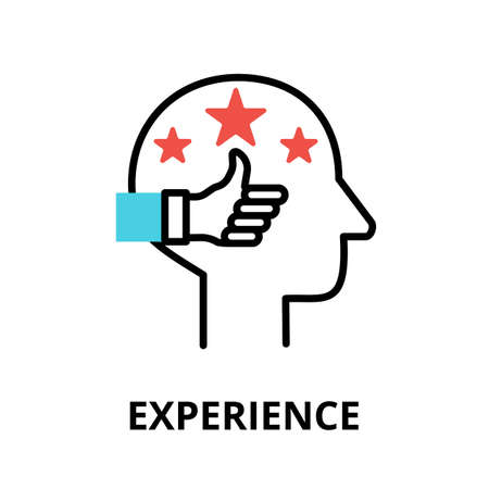 Icon concept of Experience, brain process collection, flat editable line vector illustration, for graphic and web design