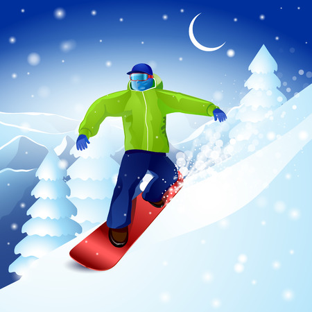 downhill: snowboarding mountain winter sports extreme sky downhill.