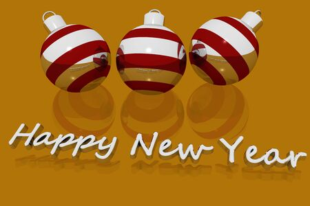 weihnachtsbaum: Happy New Year Stock Photo