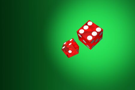 spiel: dice on green Stock Photo