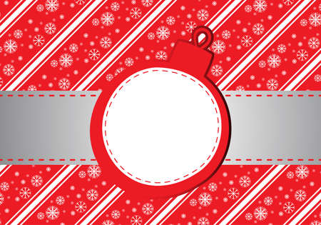 Red christmas background with place for text Vector