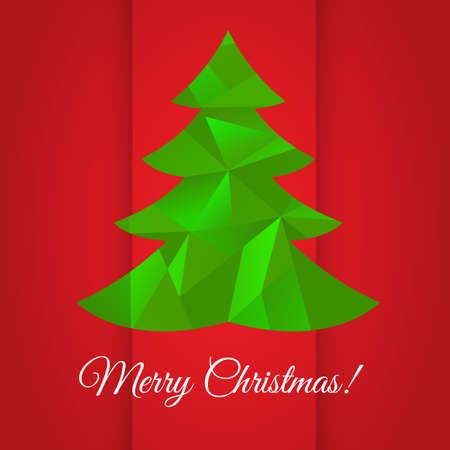 Merry Christmas greeting card design  Vector illustration Vector