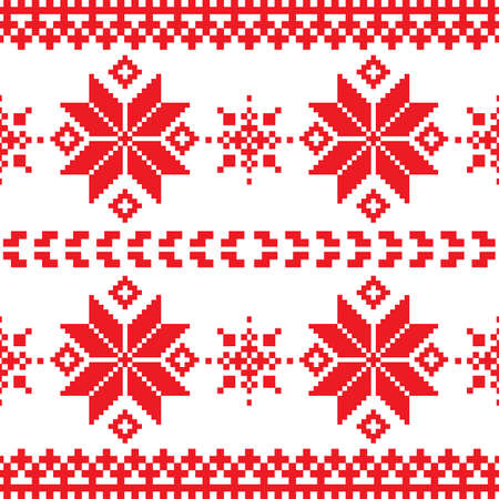 Christmas and Winter knitted seamless pattern Vector