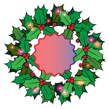 hollyberry: Christmas background with place for text Illustration