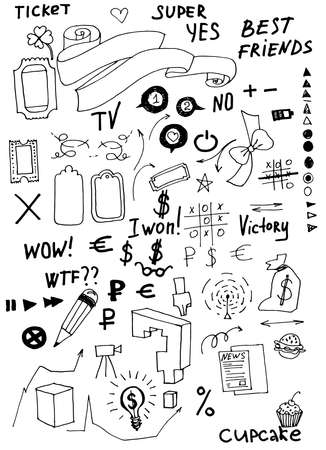Business doodles  Vector Illustration  Stock Vector - 25157543