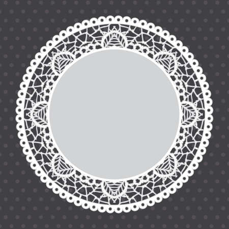 Gray Lace doily background. Vector Illustration, Vector