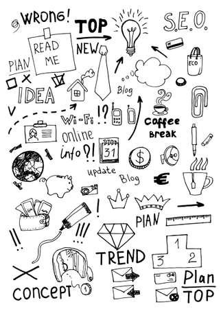 Business doodles. Vector Illustration. Stock Vector - 26009044
